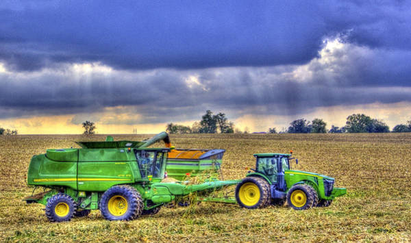 Photograph - Corn Harvest No1 by Sam Davis Johnson