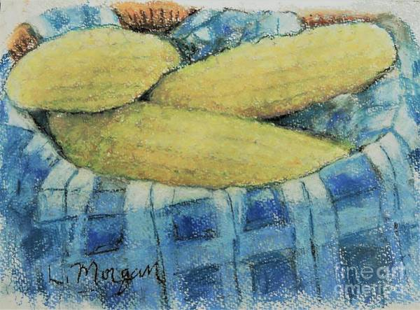 Pastel - Corn In A Basket by Laurie Morgan