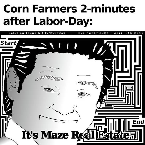 Tim And Eric Digital Art - Corn Meme Maze by Fight Milk