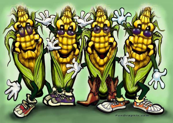 Digital Art - Corn Party by Kevin Middleton