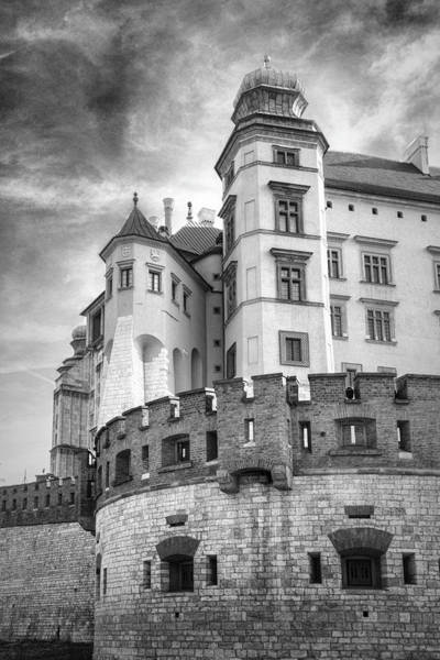 Photograph - Corner Castle Black And White by Sharon Popek