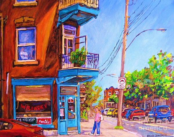 Painting - Corner Deli Lunch Counter by Carole Spandau