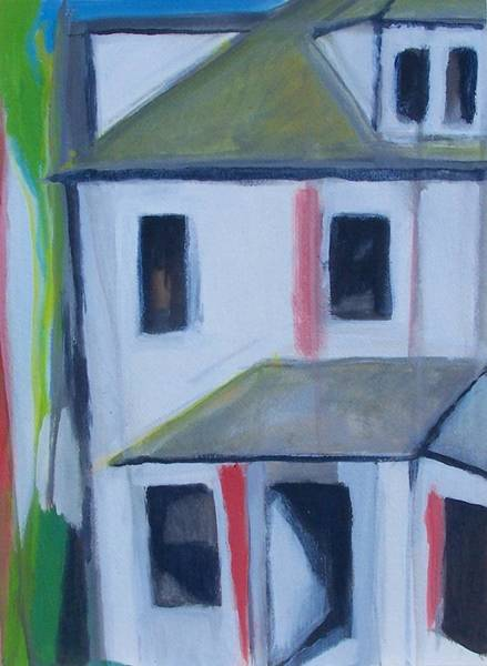 Painting - Corner House On Staten Island by Ron Erickson