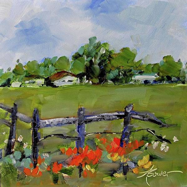Painting - Corner Lot, Texas Style  by Adele Bower