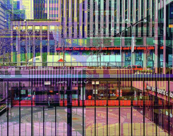 Wall Art - Digital Art - Corner Of 6th Ave And 47th, New Yyork City by Julie Flanagan