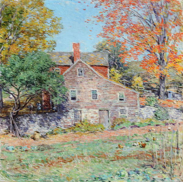 Wall Art - Painting - Corner Of The Garden by Willard Leroy Metcalf