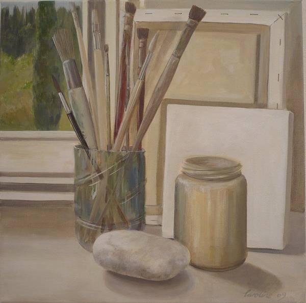 Painting - Corner Of The Studio. by Caroline Philp
