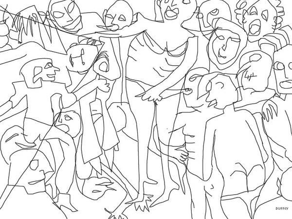 Digital Art - Corner Pocket-nola-mardi Gras by Doug Duffey