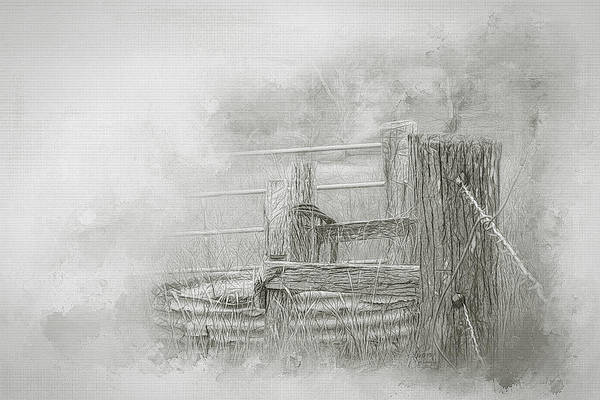 Fence Post Digital Art - Corner Post by Sharon Cohalan