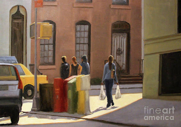 Wall Art - Painting - Corner Stop by Tate Hamilton