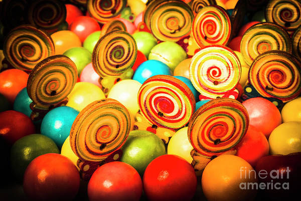 Round Photograph - Corner Store Candies  by Jorgo Photography - Wall Art Gallery