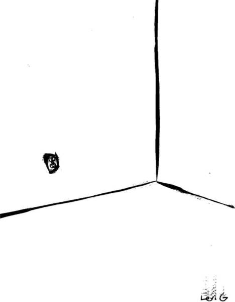 Electronica Drawing - Corner With Outlet by Levi Glassrock