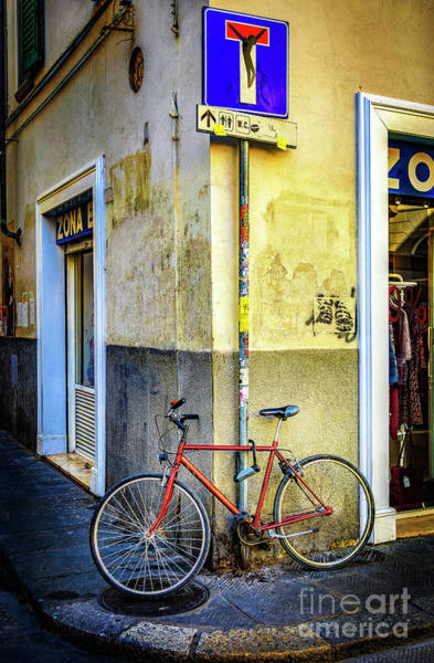 Photograph - Corner Zone Bicycle by Craig J Satterlee