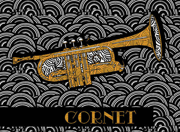 Painting - Cornet Chords by Cecely Bloom