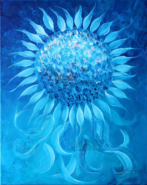 Painting - Cornflower In Moonlight by J Vincent Scarpace