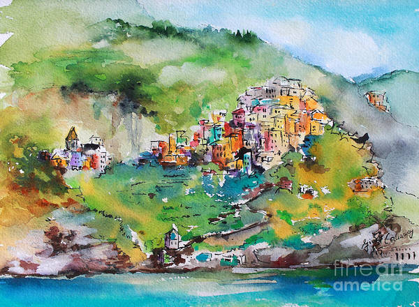 Painting - Corniglia Cinque Terre Italy by Ginette Callaway