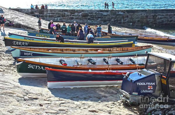 Sennen Cove Photograph - Cornish Pilot Gigs by Terri Waters