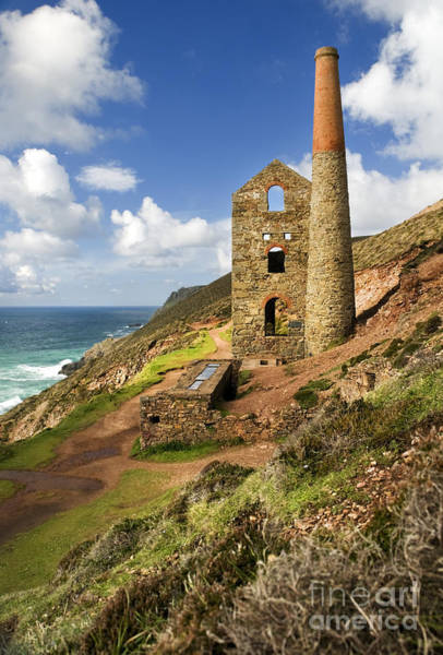 Cornish Tin Mine Art Print