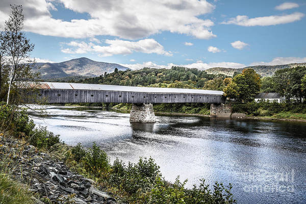 Wall Art - Photograph - Cornish Windsor Covered Bridge Hdr 2 by Edward Fielding