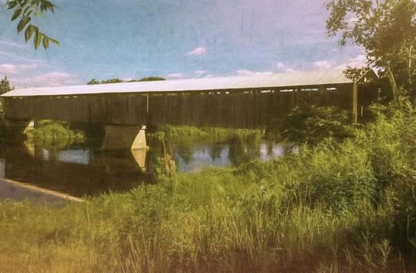 Digital Art - Cornish-windsor Covered Bridge by Rusty R Smith