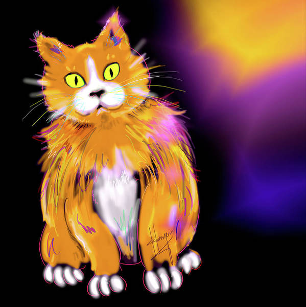 Painting - Cornmuffin Dizzycat by DC Langer