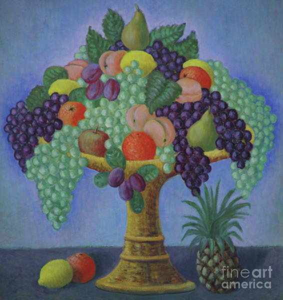 Overflow Painting - Cornucopia by Ruth Addinall