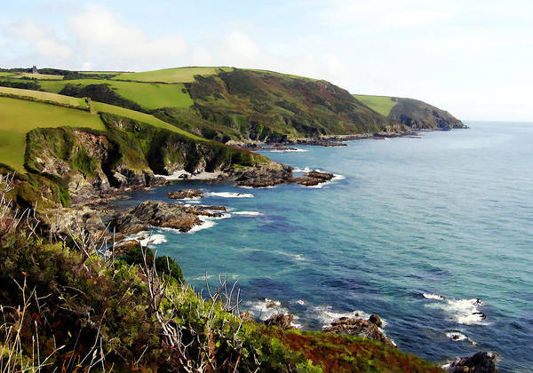 Photograph - Cornwall Coast Uk by Kurt Van Wagner