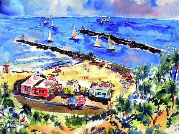 Jetti Wall Art - Painting - Corona Del Mar 1958 by John Dunn