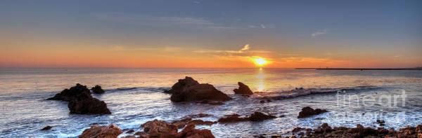 Photograph - Corona Del Mar Sunset Panorama by Eddie Yerkish