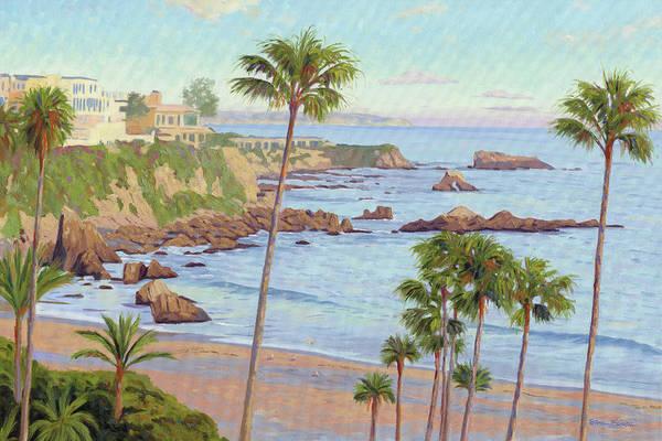 Bluffs Painting - Corona Del Mar Vista by Steve Simon
