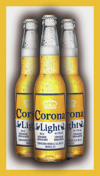 Painting - Corona Light Bottles Painting Collectable by Tony Rubino