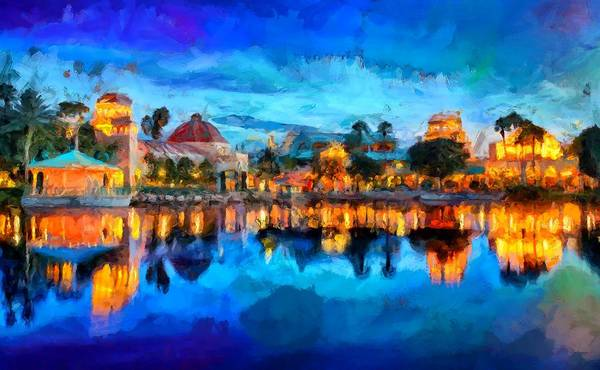 Disney World Digital Art - Coronado Springs Resort by Caito Junqueira