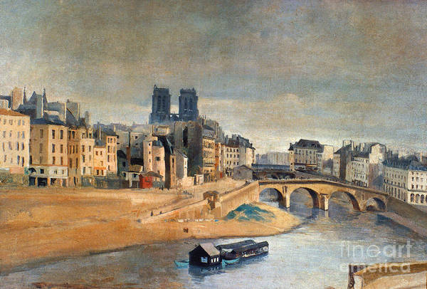 Wall Art - Painting - Corot: Orfevres Quai by Granger