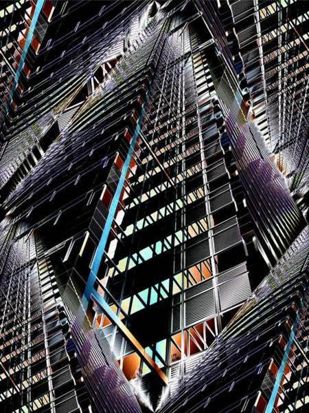 Highrise Digital Art - Corporate Ladder by Tim Allen