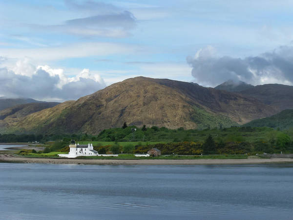 Photograph - Corran Ferry And Lighthouse by Kristen Wilkinson
