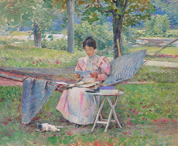 Painting - Correspondence by Theodore Robinson
