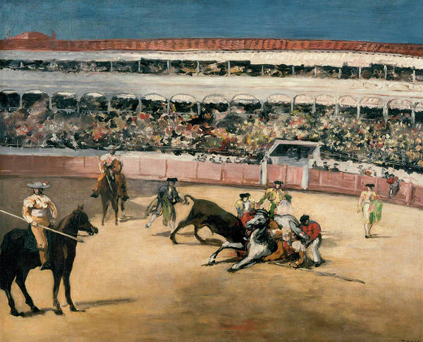 Victorious Painting - Corrida by Claude Monet