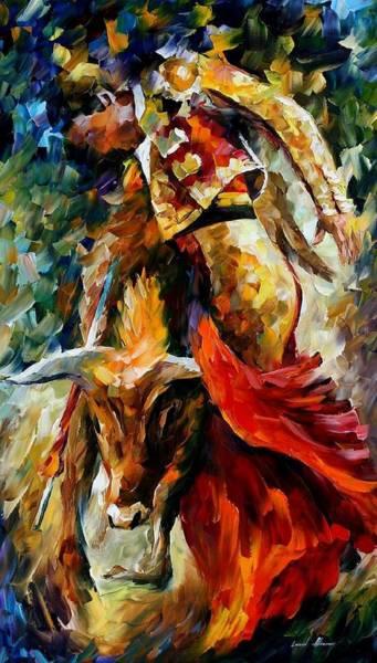 Toros Painting - Corrida by Leonid Afremov