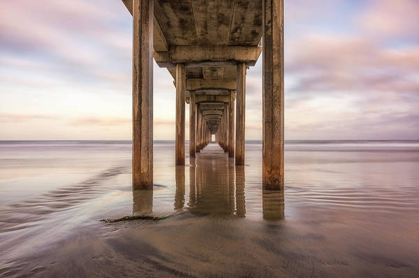 Scripps Pier Photograph - Corridor To The West by Joseph S Giacalone