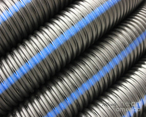 Photograph - Corrugated Drain Pipe by Natalie Dowty