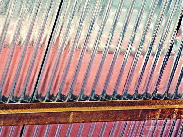 Steel Beams Wall Art - Photograph - Corrugated Metal Abstract 1   by Sarah Loft