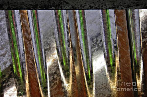 Steel Beams Wall Art - Photograph - Corrugated Metal Abstract 4 by Sarah Loft