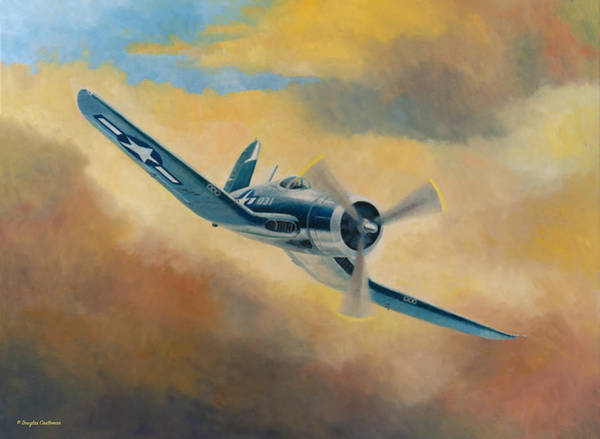 Painting - Corsair On The Prowl by Douglas Castleman