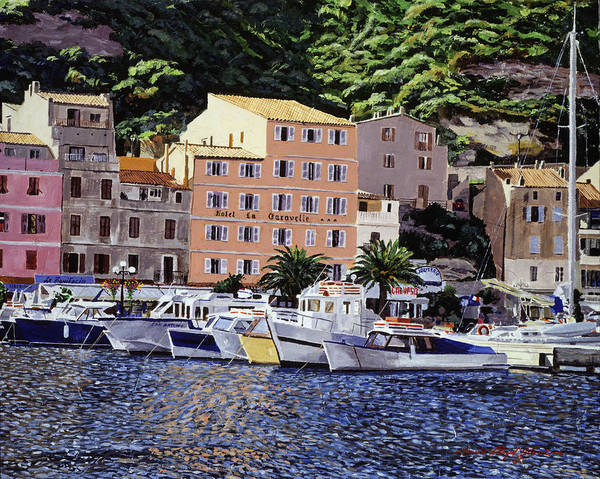 Painting - Corsica Boats by David Lloyd Glover