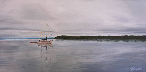 Desolation Painting - Cortes Island by Jackie Begue