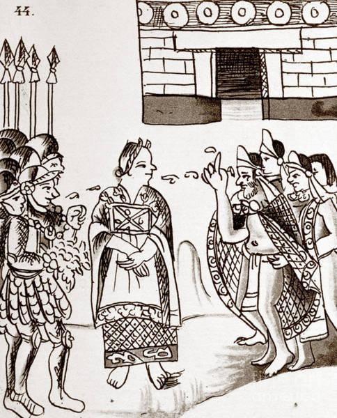Photograph - Cortes & Montezuma, 1519 by Granger