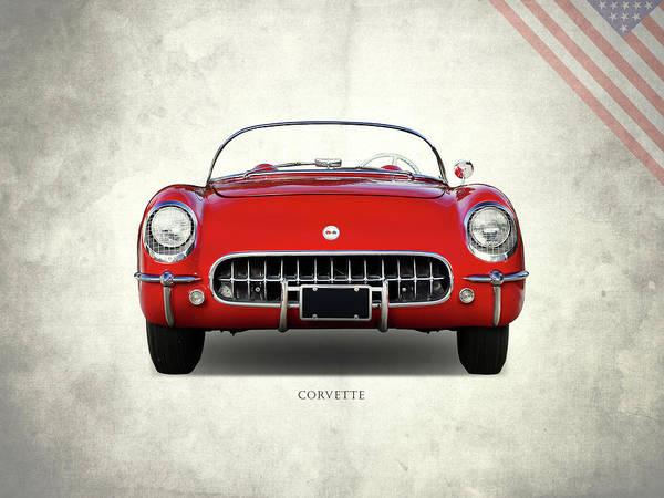 Wall Art - Photograph - Corvette 1954 Front by Mark Rogan