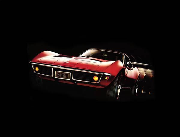 Wall Art - Photograph - Corvette 69 by Mark Rogan