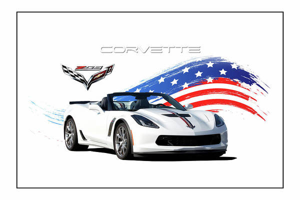 Wall Art - Digital Art - Corvette America by Peter Chilelli