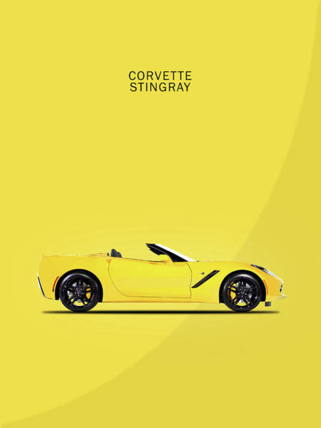 C7 Wall Art - Photograph - Corvette In Yellow by Mark Rogan